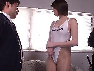 Threesome,Hardcore,MMF,Asian,Japanese,Close Up Delicious Michiru Morisaki sucks and...