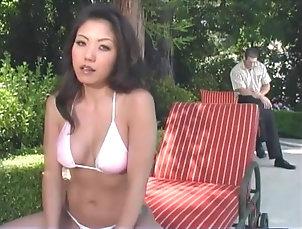 Reality,Asian,Bikini,Outdoor,Couple,Hardcore Playful Asian Kaiya Lynn is...