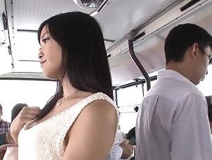 Hardcore,Reality,Asian,Japanese,Bus Cute Ai Yuzuki services dicks in...