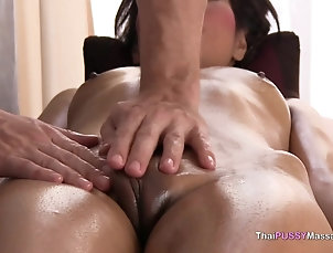 Couple,Asian,Thai,Oiled,Massage,Pussy,Shaved Pussy Naked Asian girl oil massage