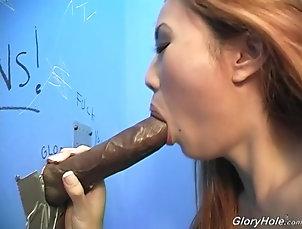 Reality,Gloryhole,Blowjob,Hardcore,Big Black Cock,Asian,Interracial,Natural Tits Cute Sin-Eye Sucks A Big Cock In A...