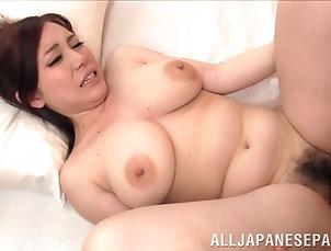 Couple,Hardcore,Asian,Japanese,Bra,Big Tits,Natural Tits Curvy Japanese girl with big, natural...