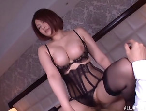 Couple,Hardcore,Asian,Japanese,Lingerie,Stockings,Nylon,Big Tits,Natural Tits Asian hottie with a big, round ass...