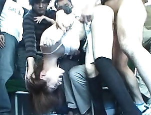 Asian,Japanese,Hardcore,Public,Bus Akari Hoshino cute asian girl sucking...