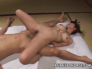 Asian,Bondage,BDSM Tied up and she gets her bubble butt...