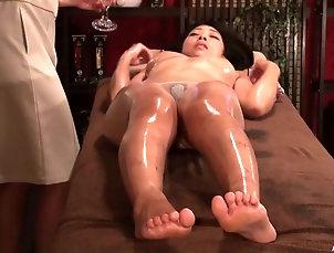HD,Lesbian,Asian,Japanese,Massage,Oiled,Panties Sheer panties babe gets an arousing...
