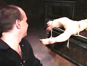 BDSM,Bondage,Humiliation,Slave,Torture Moriel the bound Asian chick gets her...
