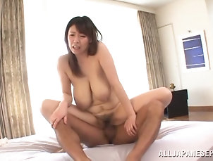 Mature Japanese doll with big tits is...