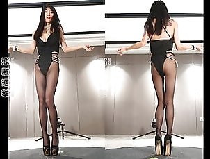 Asian;Brunette;Lingerie;18 Year Old;Boots;High Heels;Pantyhose;Lingeries;Dance;Lingerie Dance;Heels;HD Videos;60 FPS Dance in pantyhose and heels 7