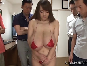 Group Sex,Hardcore,Asian,Japanese,Big Tits,Natural Tits,Foursome Asian babe with big tits gets toyed...