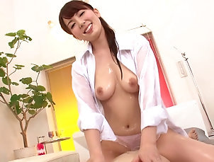 POV,Couple,Hardcore,Asian,Japanese,Oiled,Massage,Natural Tits,MILF Captivating Asian milf getting her...