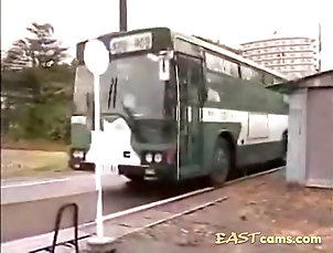 Public,Japanese,Bus Asian prostitute does a hot handjob...