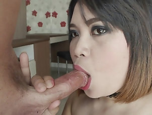 Couple,Hardcore,Asian,Thai,Blowjob Chubby Thai prostitute is excited to...
