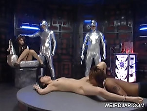 BDSM,Slave Tied up asian gets full body licked