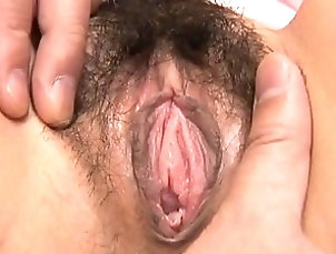 Asian,Hairy,Pussy,Japanese Riana Natsukawa has her pantyhose...