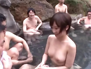 Group Sex,Hardcore,Gangbang,Reality,Public,Bus,Asian,Japanese,Clothed Sex A daring Asian girl jerks a guy off...
