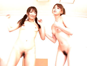 Reality,Asian,Hardcore,Japanese,Threesome,FFM,POV,Shorts,Teens,Pigtails,Amateur Two lovely Japanese chicks strip and...