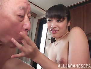 Group Sex,Hardcore,Asian,Japanese,Foursome,Old vs Young,Reality,Kitchen,Panties A guy makes his hot Asian wife fuck...