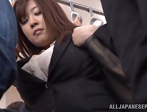 Reality,Asian,Japanese,Public,Bus,Hardcore,Clothed Sex Hot subway ride home from work with a...