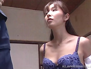 Couple,Hardcore,Asian,Japanese,Lingerie,Bra Lingerie clad Japanese wife goes out...