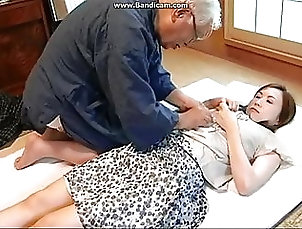 Asian;Blowjob;Hardcore;Facial;Bisexual;Cunnilingus Japanese old man and housekeeping...