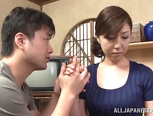 Asian,Couple,Hardcore,Japanese,Missionary,Orgasm,Natural Tits,MILF Gorgeous Japanese milf is having some...