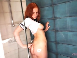 bathroom;doggystyle;shower;18-year-old;cumshot;blowjob-cum-mouth;mirror;pov;big-natural-tits;big-ass;european;cum-face;face-fuck;japanese-uniform;big-tits-uniform;anime-cosplay,Amateur;Cumshot;Teen (18+);POV;Red Head;School;Verified Amateurs;Cosplay;Verified Couples Sex with a schoolgirl in the shower...