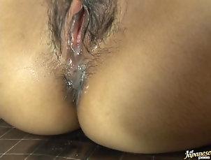 Asian,Creampie,Hairy,Cumshot,Japanese Asian Babe Ami Kitazawa Gets Fucked...