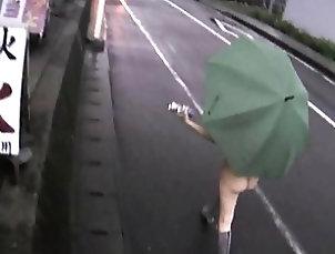 Asian,Outdoor,Public,Reality,Japanese,Flasher Yuka Kurihara walks naked flashing...