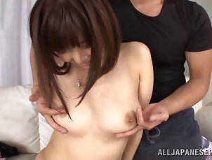 Threesome,Hardcore,Asian,Japanese,Bra,MMF She doesn't want to fuck but...