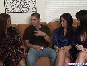 Couple,Hardcore,Massage,Fake Tits Busty Asian babe gives a massage and...