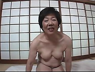 Granny Japanese Granny Strips and Lets Guy...