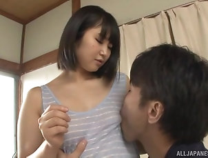 Couple,Japanese,Natural Tits Asian brunette hottie gets her tight...