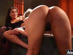 asian;big-butt;blonde;beauty Two stunning beauties pleasure one...