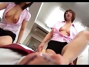 Foot Fetish;Asian;Group Sex,Asian,Foot Fetish,Group Sex,desk 3 Hot Milfs Giving Footjob For Guy On...