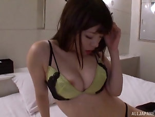 Couple,Japanese,Bra,Panties,Natural Tits Naughty Japanese girl wants his long...