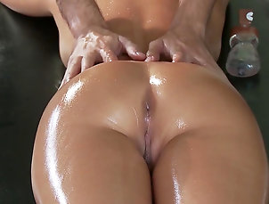 Asian,Doggy style,Hardcore,HD,Interracial,Massage,Masseur,Moaning,Oil,Pornstar,Riding,Spread legs,Straight Big ass Asian angel pumped by horny...