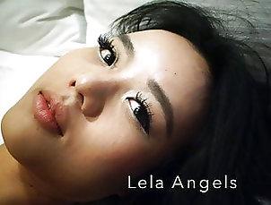 Asian;Brunette;Pornstar;POV;Lingerie;Chinese;HD Videos;Striptease;Girl Masturbating Asian adult model Estelle Lela Angels...
