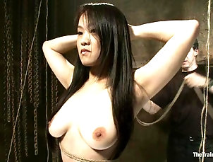 BDSM,Torture,Slave Bounded Asian girl with big boobs...