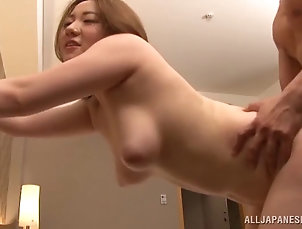 Couple,Hardcore,Asian,Japanese,Bra,Natural Tits While riding his cock this Asian girl...