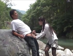 Cougars,Hardcore,Asian,Japanese,Outdoor,Reality,Clothed Sex,Forest Sex Hibiki's very first doggy style...