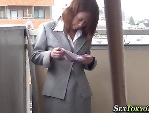 asian;babes;fetish;japanese;public-nudity Asian babe rubs in public