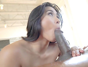 Anal,Big ass,Black,Cumshot,Doggy style,Facial,Interracial,Moaning,Oil,Riding,Screaming,HD,Straight Busty Asian hottie roughly anal...