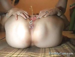 Mature,Mature Amateur Korean stephanie with anal beads