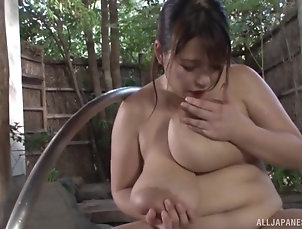 Threesome,MMF,Japanese,Big Tits,Natural Tits,Chubby,Bath After pleasing in the spa center...