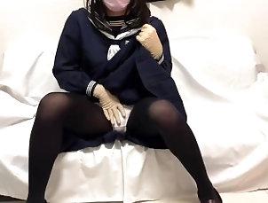 japanese;girly-boy;latex-gloves;schoolgirl;japanese-schoolgirl;sailor-moon;japanese-cosplay;cosplay;japanese-uniform;highscool;hentai,Cumshot;Fetish;Handjob;Masturbation;Transgender;60FPS;Japanese;Verified Amateurs;Cosplay;Solo Trans ゴム手袋フェチ...