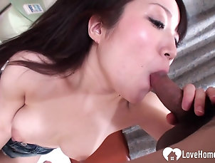 Couple,Asian,Toys,Vibrator,Pussy,Natural Tits,Long Hair Adorable girl is eager to get filled...