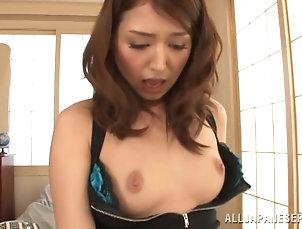 Hardcore,Couple,Asian,Japanese,Stockings,Lingerie,Fishnet,Panties Sizzling Asian slut fingers her pussy...