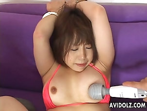 Asian,Japanese Tied up and sex toy fondled by the...