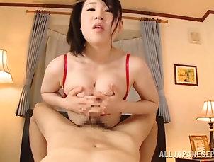 Reality,Couple,Hardcore,POV,Asian,Japanese,Handjob,Stockings,Natural Tits,Big Tits Busty Japanese tart gives a blowjob...